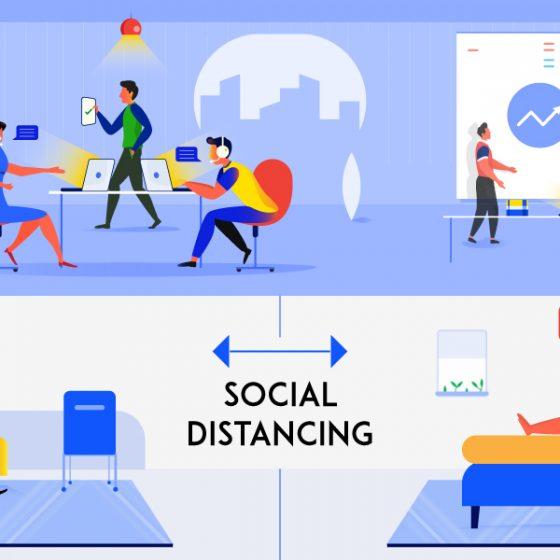 Practicing Social Distancing at Porter